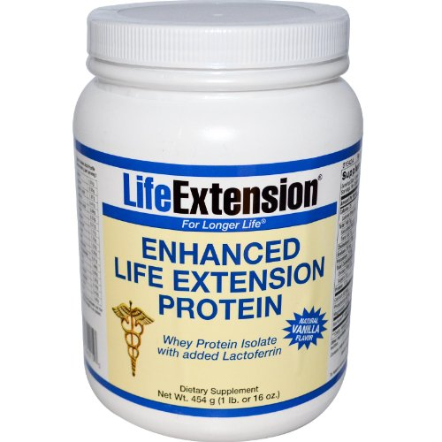 Whey Protein Isolate - Vanilla Life Extension 1 lb Powder