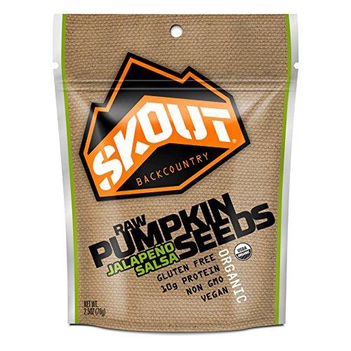 Skout Organic Raw Pumpkin Seeds, Jalapeno Salsa, 2.5oz , 6 count. (Vegan Salsa compare prices)