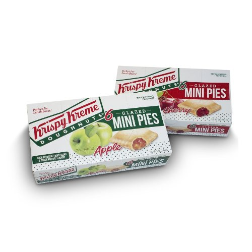 Krispy Kreme Glazed Mini Pies - 6 20z Glazed Mini Pies Per Box - Two Boxes: Cherry and Apple (Cherry And Apple Pie compare prices)