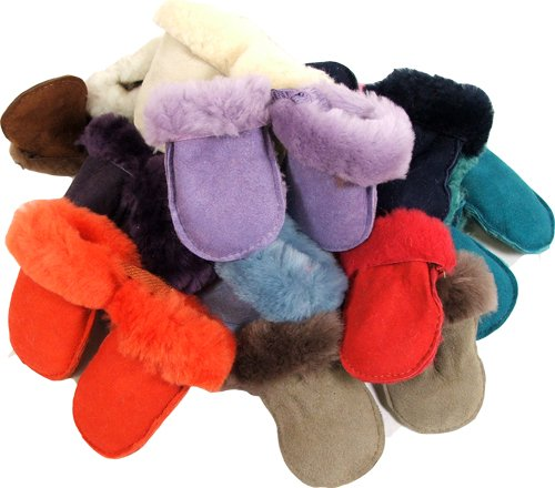 Baby Toddler Sheepskin Mittens Mitts Gloves Puddies (324 months)