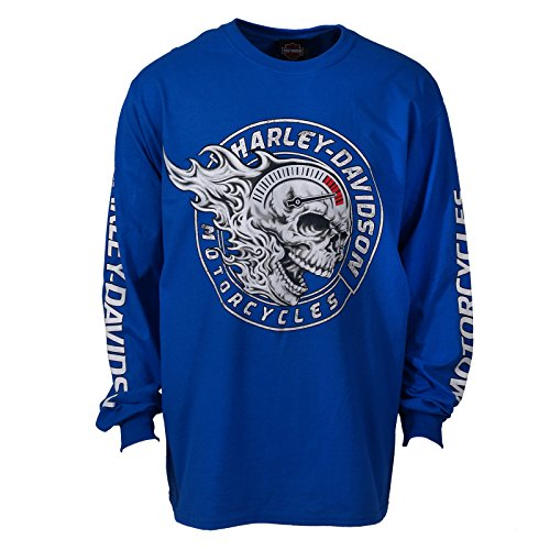 H-D Military Long Sleeve Men's Tee - Chief 2X | Overseas Tour