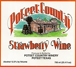 Poteet Country Winery Strawberry Wine 750 mL