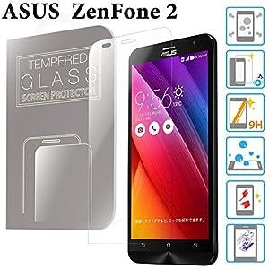 ZenFone 2 ガラスフィルム 5.5インチ ZE551ML / ZE550ML ASUS 液晶保護 透明 強化ガラス 国産 フィルムガラス ラウンドエッジ加工 MS factory 90日 保証 FD-ZF2-GLASS-CL