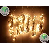 Pack Of 7 Yellow/White Rice Lights || Serial Bulbs For Decoration((By - GamerSpotIndia))