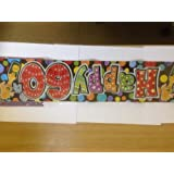 HAPPY 60TH BIRTHDAY HOLOGRAPHICSILVER BANNER 9FT LONG