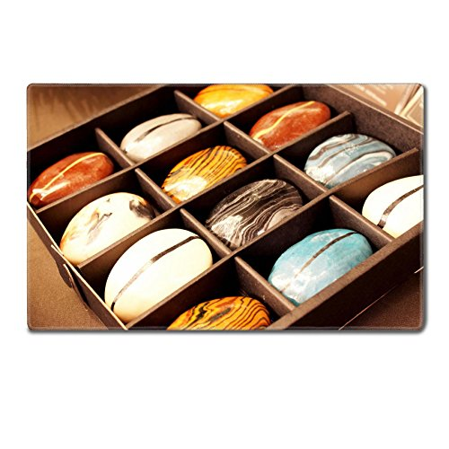 Luxlady TableMats Mousepad 24 x 15 x 0.2 inches A one set Marbled soap in paper box IMAGE 20216968 Customized Art Home Kitchen