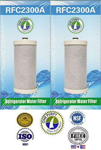 2 Pack - Onepurify Water Filter To Replace Brita, Frigidaire, Electrolux, Pure Source Plus, Kenmore, Sears, Frrf-100, Wfb, Wf1Cb, Wfcb, Wfcb12, Wfcb18, Wfcb20, Swfb, Swf1Cb, Swfcb, Wf284, 218710901, 218710902, 218717805, 218732306, 218904501, 218904602, 2 front-263588