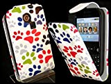 Goldstar® Flower PU Leather Flip Case Cover For Various Samsung Models, Galaxy Ace, S2, S3 Mini, Chat (Multi Paw, Cha@t335 Chat S3350)