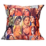 MeSleep Digitally Printed Bombay Collage Cushion Cover - Multicolor (16CDBLC-95m)
