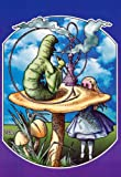Alice In Wonderland Caterpillar Pot College Art Poster Print - 24