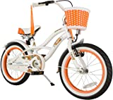 BIKESTAR® Premium Design Kinderfahrrad für coole Kids ab 4 Jahren ★ 16er Deluxe Cruiser Edition ★ Diamant Weiß