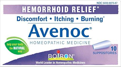Boiron Avenoc Hemorrhoid Relief Suppositories, 10 Count