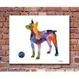 """Rat Terrier"" Abstract Watercolor Art Print By Artist Dj Rogers"