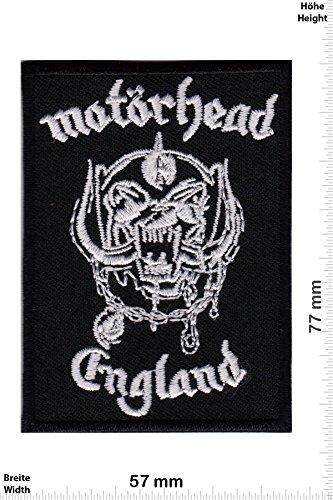 "Patch - Motörhead England small - Musica - Motörhead - Motörhead- toppa - applicazione - Ricamato termo-adesivo - Patch"""