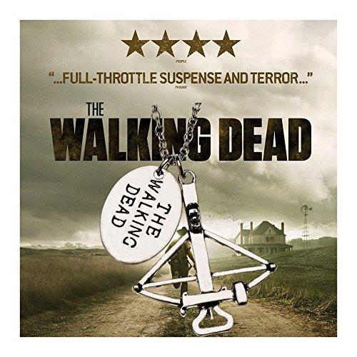Spedito da ITALIA - Collana Pendente ciondolo di metallo THE WALKING DEAD colore argento