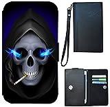 Etui Flip Cover Schutz Hülle Universal M Handy Tasche Case