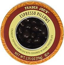Trader Joe39s Espresso Pillows Crunchy Toffeed Espresso Bits Covered in Dark Chocolate 275 oz