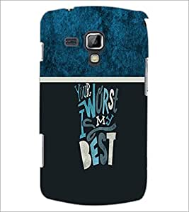 PrintDhaba Quote D-4253 Back Case Cover for SAMSUNG GALAXY S DUOS 2 S7582 (Multi-Coloured)