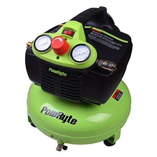 [해외]PowRyte 엘리트 오일 프리 팬케이크 휴대용 공기 압축기/PowRyte Elite Oil-Free Pancake Portable Air Compressor
