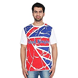 Trenders Round Neck White Color T Shirt with UK print