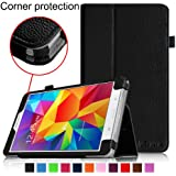 Fintie Samsung Galaxy Tab 4 7.0 Folio Case - Slim Fit Premium Vegan Leather Cover for Samsung Tab 4 7-Inch Tablet, Black
