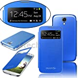 Brand New Stylish Samsung Galaxy NOTE 3 N9000 S VIEW Window Flip Case Cover with RETRACTABLE Stylus Touch Pen. Screen Protector and Polishing Cloth (Blue)