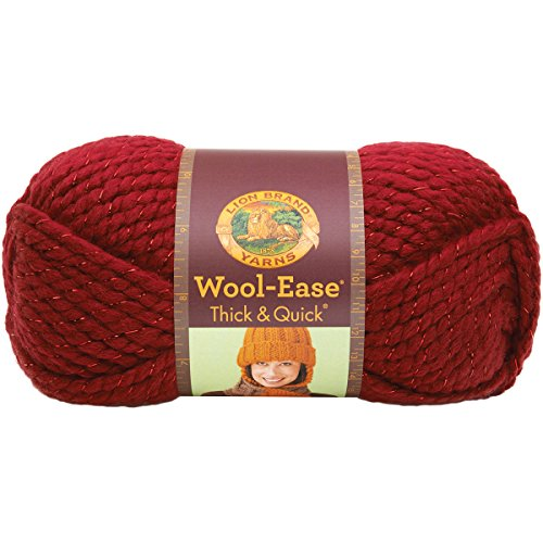 Lion Brand Yarn 640-306 Wool-Ease Thick and Quick Yarn, Poinsettia