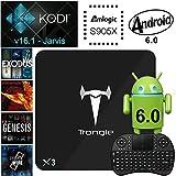 [Mit Wireless Mini Tastatur] SEGURO X3 Android 6.0 TV Box