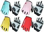 QEPAE® Biking Gloves Gel Pad Lumi...
