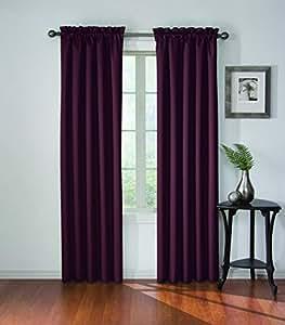 Eclipse Corinne Blackout Window Curtain Panel Plum 42 By 84 Home Kitchen