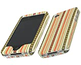 iTALKonline-ORANGE-BROWN-DOTS-RAINBOW-LINES-DESIGN-SnapGuard-Armour-HYBRID-Protection-Clip-On-Case-Cover-Skin-For-Apple-iPhone-4-4S-2011-4G-HD