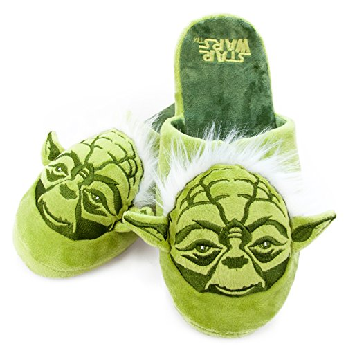 Star Wars Yoda Adult Mule Slippers Size 8-10