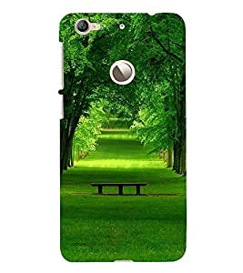 Fuson Premium Back Case Cover Green park With black Background Degined For Letv Le 1S