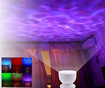 Ghope ocean lamp ambiance romantique soir e couleur changeable cadeau de no l multicolore led for Projecteur de salon
