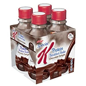 Kellogg's Special K Breakfast Shake, Chocolate Delight, 4 Count, 10 Ounce Bottles (Pack of 6)