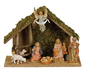 Fontanini by Roman Figure Centennial Nativity Set with Italian set 7-Piece 5-Inch Each by Roman