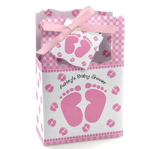 Baby Feet Pink - Personalized Baby Shower Favor Boxes front-806526