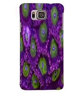 ColourCraft Flowers Design Back Case Cover for SAMSUNG GALAXY ALPHA G850