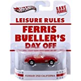 Hot Wheels Retro Ferris Bueller's Day Off 1:55 Die Cast Car Ferrari 250 California