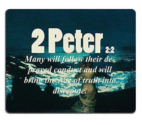 """Versi della Bibbia all'interno, 2 """"di Peter 2_2 molti si loro depraved condotta e costituirà the way of truth in disrepute MSD personalizzato, realizzata in Neoprene e"""" con Mouse Pads"""