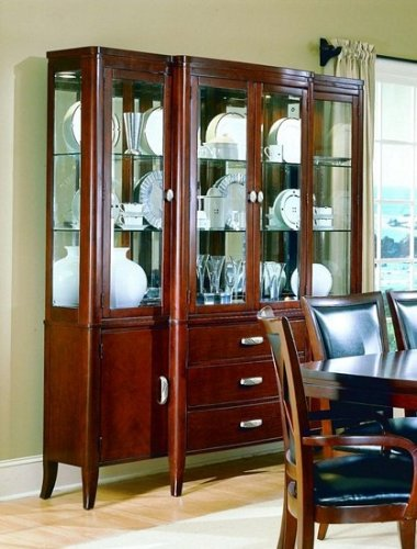 Cheap 5th Avenue Collection Hardwood China Cabinet /Buffet Hutch (VF_HE589-50)