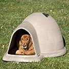 Petmate Indigo Dog House with Microban, Medium, Taupe Top, Black Bottom