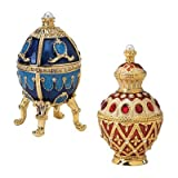 Design Toscano FH90858 The Pushkin Collection Faberge-Style Enameled Egg Set