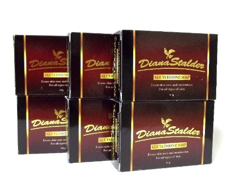 LOT of 6 Diana Stalder Glutathione Skin Whitening Soap