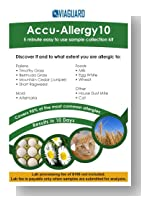 Accu-Allergy10. The only allergy test that uses exclusive DNAffirm technology to not only identify your allergy level for 90% of the most common allergies, but scans for genetic predisposition to others. Lab Fees Not Included. See Key Product Features.
