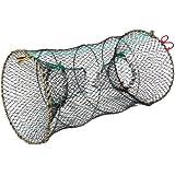 uxcell Crab Crawfish Lobster Shrimp Collapsible Cast Nylon Net 25cm x 45cm