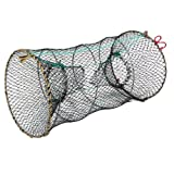 Crab Crawfish Lobster Shrimp Collapsible Trap Cast Nylon Net 25cm x 45cm