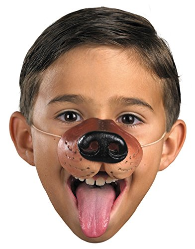 Child Rubber Costume Accessory Brown Dog Puppy Zoo Animal Nose Elastic Band Mask