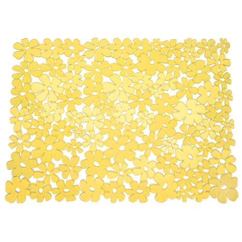 Yellow Kitchen Mats: InterDesign Blumz Kitchen Sink Protector Mat