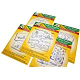 AUNT MARTHA's Iron on Transfer Patterns for Stitching, Embroidery or Fabric Painting, Linens, Set of 5